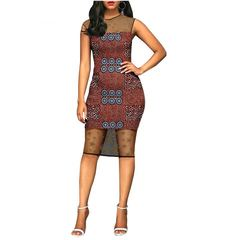 The new African ethnic wax printing cotton ladies dress Women Floral Printed Short Sleeve Dress xxs 1
