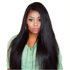 Long straight hair black/brown body wig female hair synthetic hair wig lady dark brown 26 inches black 26 inch