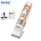 Rechargeable hair clipper men's electric razor professional hair clipper gold send conversion plug Gold normal