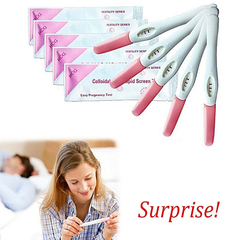 5 PCS One Step Urine Pregnancy Test Strip Test HCG Stick Family Accurate Early Pregnancy Test Bar as the picture one size