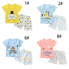 Summer new children's short-sleeved T-shirt suit boys and girls short-sleeved shorts two-piece 1# 110cm