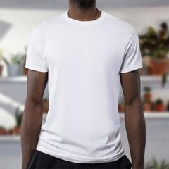 Cotton 100% white short-sleeved T-shirt Unisex fashion trend wild short sleeve white XL 100% cotton