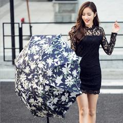 Ruffled folding lotus leaf parasol sun umbrella / umbrella sunscreen UV protection As shown