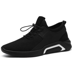 Men's sneakers running shoes canvas shoes fashion trend wild casual black 43