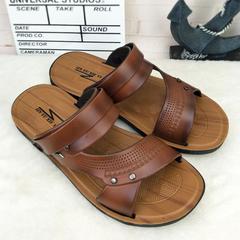 Men's fashion sandals, non-slip comfort, summer casual dad sandals 41-44 Brown 43