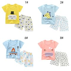 Baby Clothes boys and girls t-shirts cotton two piece clothes T-shirt suits fashion Infant clothes 1# 110cm