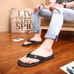 men shoes slippers men sandals casual flat sandals flip flops beach sandals shoes men open shoes black 42