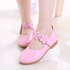 girls shoes kids shoes Girls Princess Dress Shoes Flat baby girl shoes flower girl shoes Pink 30