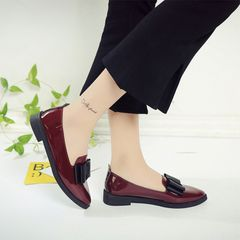 ladies flat shoes patent leather shoes low heel women office casual shoes pumps shoes for ladies red 37