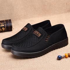 men shoes loafers men casual shoes breathable fashion office shoes flat soft sole mens shoes black 43