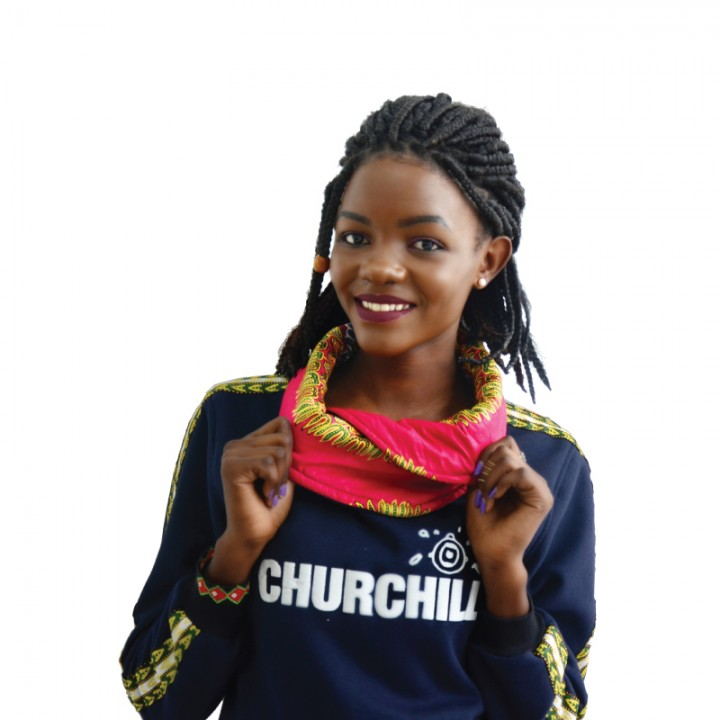 Churchill Branded Hood/Sweater With Dashiki Detail - Blue, M