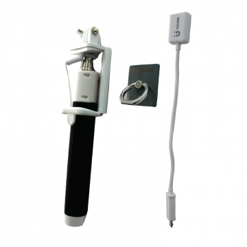Gionee Smartphone Accessories- OTG Cable, Selfie Monopod & Ring Stent .