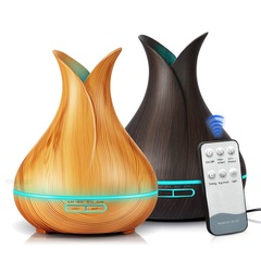 400ml Aroma Essential Oil Diffuser Ultrasonic Air Humidifier 7 Color Changing LED Lights Light wood