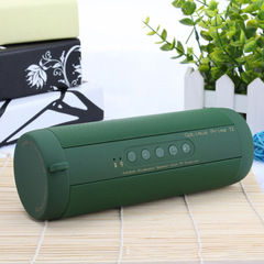 Bluetooth Music Bass Speaker Waterproof Portable Outdoor LED Army green As picture