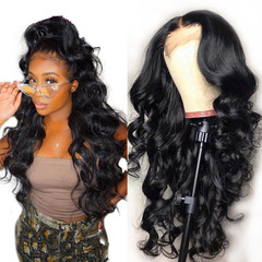 Wig 2019 New Lace Front Human Hair Wigs Synthetic Hair Body Wave Wig natural 14