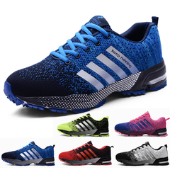 PROME 1 Pairs Men's and Women's Shoes Breathable Sports Shoes Plus size Shoes Running Athletic Shoes blue 35