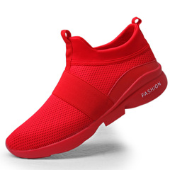 PROME 1 Pairs Men and Women Shoes Breathable Sports Shoes Plus size Shoes Running Athletic Shoes red 39
