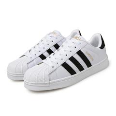 PROME 1 Pairs Men's Shoes Fashion Sneakers Plus size Shoes Casual Flats white&black 36