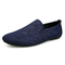 PROME 1 Pairs Soft Leather Loafers Men Shoes Slip On Shallow Moccasins Flats Driving Shoes blue 39