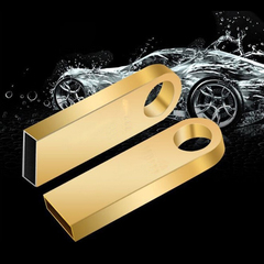 PROME Metal Waterproof Flash Disk 64GB High Speed U Disk Flash Drive  Memory Card USB Adapte gold C3 64gb