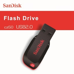 PROME Sandisk 64GB Cruzer Blade Usb Flash Drive Large Capacity U Disk Flashdisk Flash Disk BLACK&RED(no logo) sandidk 512gb