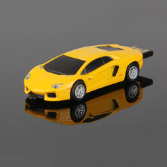 PROME 2.0 Creative Sports Car Porsche Waterproof Flash Drive 256GB USB Flash Drive USB Adapte yellow usb2.0 32gb