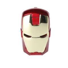PROME 2.0 Creative Marvel Series Iron Man Mask Waterproof 256GB USB Flash Drive USB Adapte red usb2.0 1gb