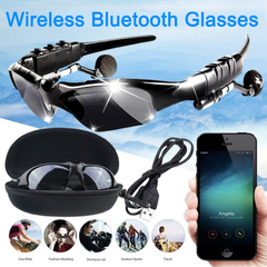 Prome Explosion-proof Sunglasses Wireless Bluetooth Sunglasses Headset Headphones For Smartphone black