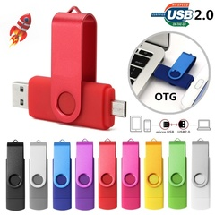 Prome U disk Rotate OTG 128GB USB 2.0 USB Flash Driver for OTG Phone Tablet and Computer random color usb 2.0 16gb
