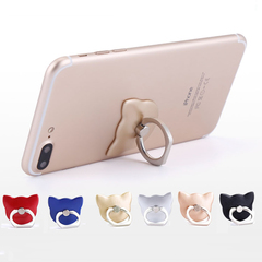 Universal 360° Finger Ring Grip Mobile Phone Tablets Holder Stand Holder for Huawei Sumsung iPhone Random color leopard head