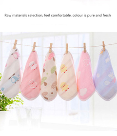 Pure Cotton Gauze Baby Drool Towel Baby Children Face Towel Cotton Handkerchief Saliva Towel Random one 25cm*25cm