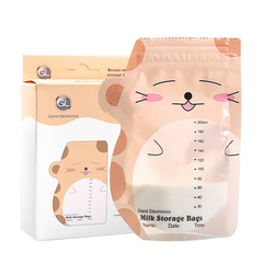 30 Pieces Breast Milk Storage Bag Mark Name and Date 200ml BPA free Safe Baby feeding Storage Bag as picture 200ml