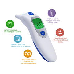 Infrared Electronic Thermometer Baby Forehead Ear Electronic Thermometer Intelligent thermometer as picture one size