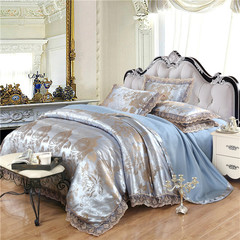 100% Preferred Cotton 4Pcs Bedding Set(1 Duvet cover+1 Bed sheet+2 Pillow covers) Smooth Soft A Color 1.5M-bed