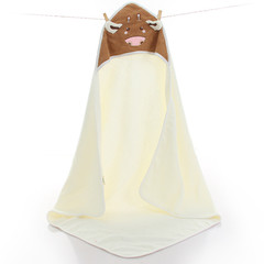 Cotton children's cloak towel infant baby cloak  little cows children quilt white 90cm*90cm