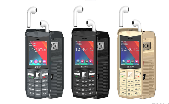 bluetooch music phones power bank 2.4 inch lcd dual camera wirless FM radio celldu phones black