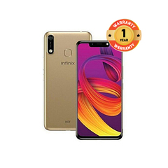 Infinix Hot 7 (X624B), 32GB + 2GB (Dual SIM) gold