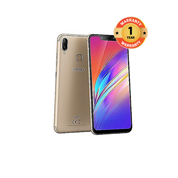 "Infinix HOT 6X - 6.2"" - 2GB +16GB, 13MP + 2MP, Dual SIM Champagne Gold"