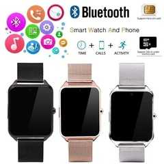 Z60 PLUS Smart Watch Phone  with Samsung,Xiaomi huaiwei,IPHONE. Android,ios Smartphones PK DZ09 GT08 silver free size