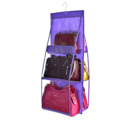 SIFAn Hanging Double-sided Six-layer Hanging Bag Storage Sorting Bag Multi-laye Bag purple