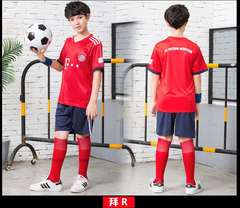 children's football suit club world cup short sleeves football shirt and shorts
