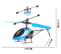 Children Hand Induction Helicopter Aircraft Dual Mode Plane Toys Durable USB Charging blue 19*4.5*11