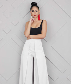 European and American Fashion Broad-legged long trousers in Summer of 2019 white s