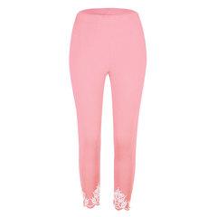 Euro-American hot-selling ladies slim print nine-cent pants and underpants pink s