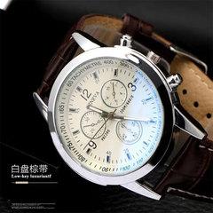 Classic popular blue-ray glass wristwatch fashion men's watch high-end belt Watch 01 one size