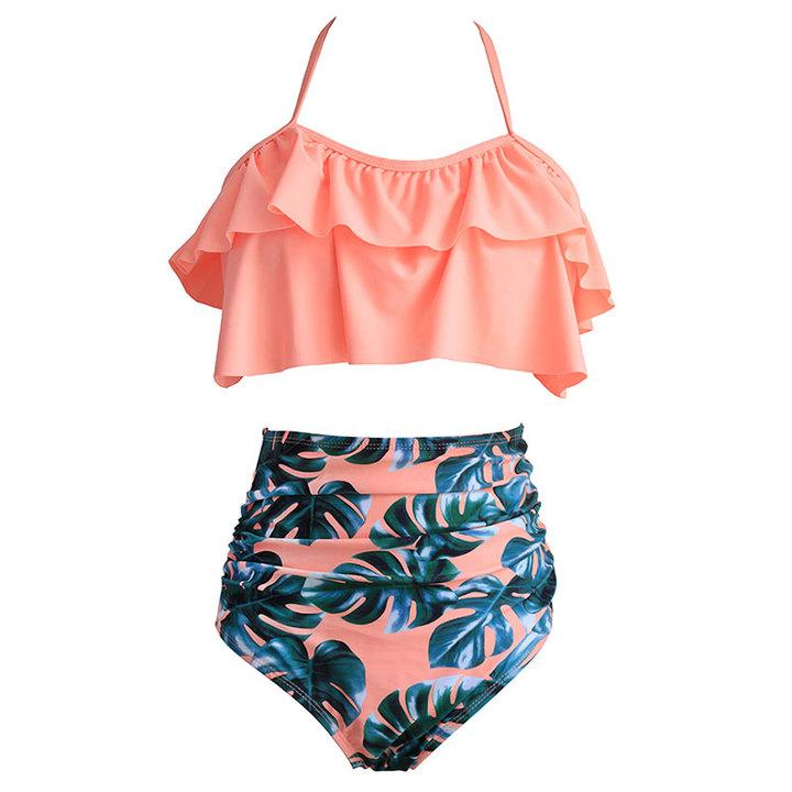 High Waist Bikini Sexy Swimsuit Plus Size Swimwear Women Bikinis Set Swimming for Bathing Suit 01 m