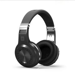 High-end fashion H + Bluetooth stereo wireless headset built-in microphone Micro-SD / FM radio BT4.1 black