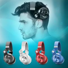 Original BLUEDIO T2+ Bluetooth Stereo Wireless Bluetooth 4.1 Headphones blue