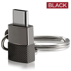 C-type adapter type C (male) to Micro USB (female) sync and charge adapter zinc alloy case connector black 1