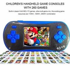 The video game console is a 16-inch 2.5 game, the game is built on the traditional gamepad 260 blue 1